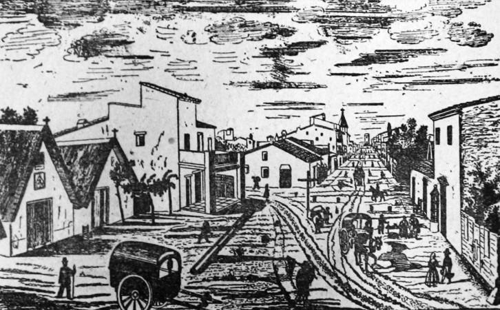 Calle San Pedro engraving
